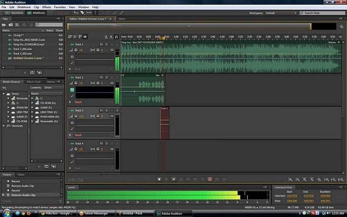 Adobe Audition CS6 (Portable) – Trình biên tập âm thanh, gọn nhẹ