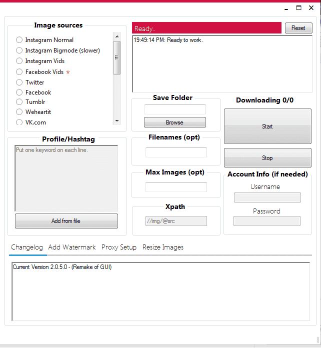 FM Imagescraper – Tool download ảnh hàng loạt
