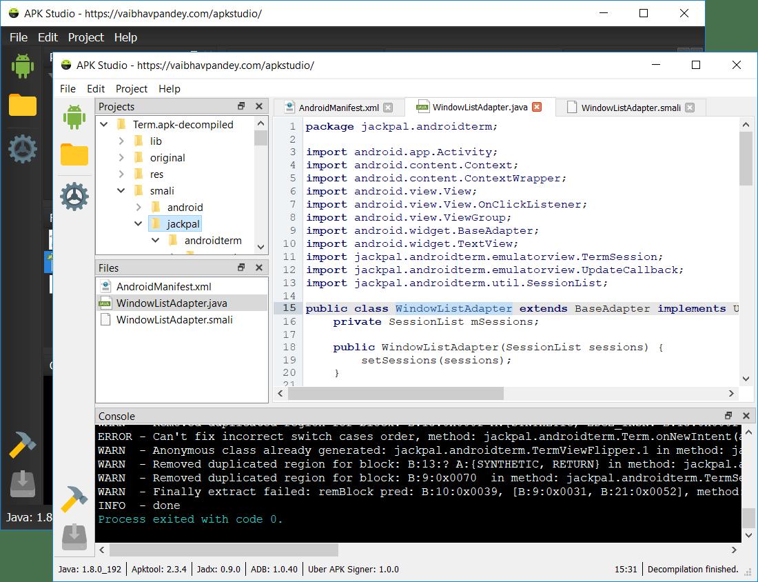 APK Studio – Chỉnh sửa, biên dịch ngược file apk