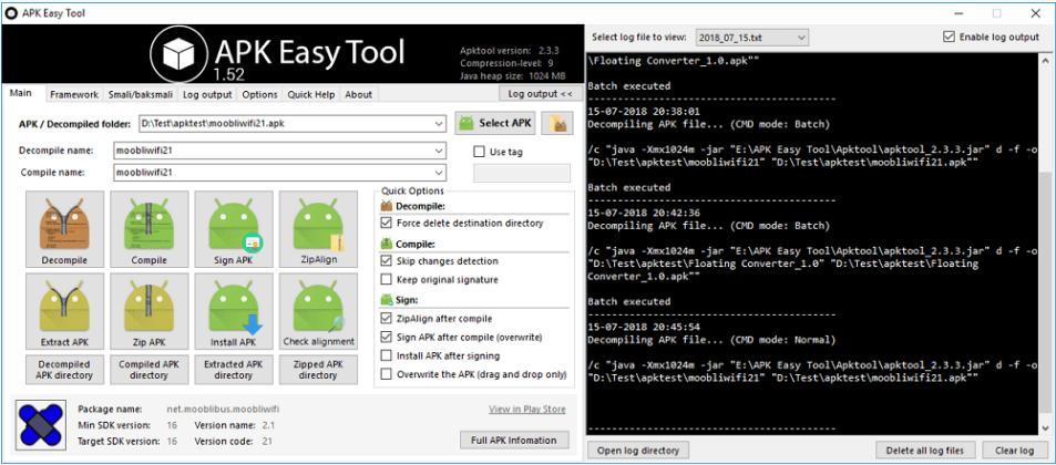 APK Easy Tool – Công cụ biên dịch apk đơn giản