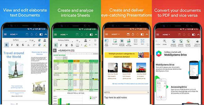 OfficeSuite (Pro) Apk - Phần mềm văn phòng cho android