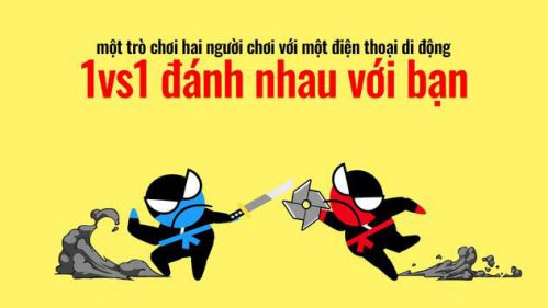 Nhảy Ninja trận chiến - 2 người chơi với bạn bè [Mod] - Vô Hạn Tiền, Đá Quý