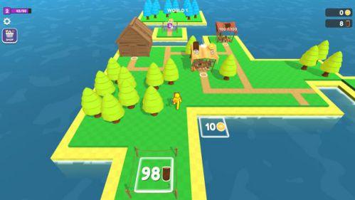 Craft Island [Mod] – Vô Hạn Tiền, Thân Cây