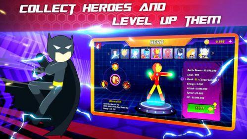 Super Stickman Heroes Fight [Mod] – Vô Hạn Tiền, Anh Hùng