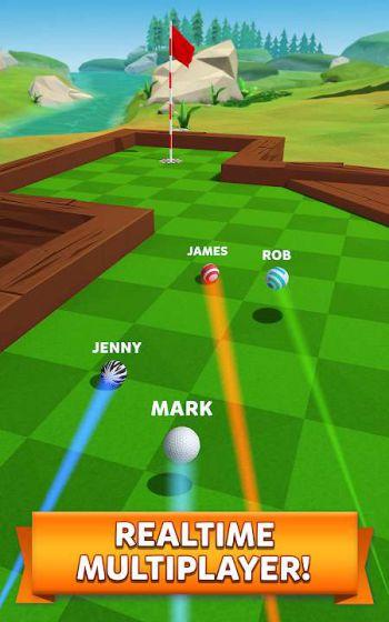 Golf Battle [Mod] – Số lượt bắn tiếp cận lỗ