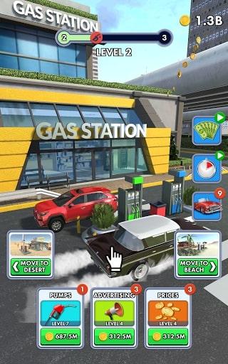 Idle Gas Station [Mod] – Không Quảng Cáo