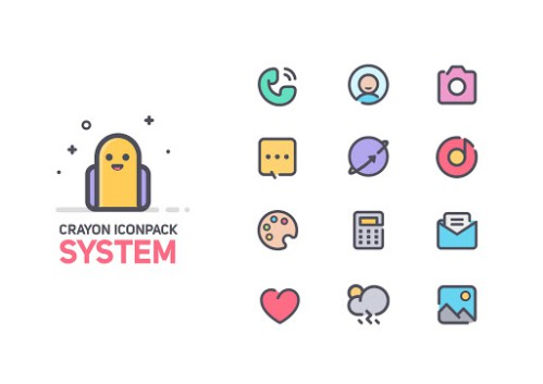 Crayon Icon Pack [Mod] – Free